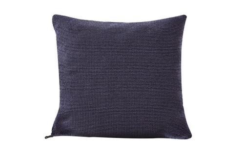 """Navy Crocheted Toss Pillow 20"""" x20"""""""