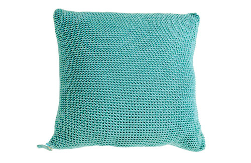 """Turquoise Crocheted Toss Pillow 20"""" x20"""""""