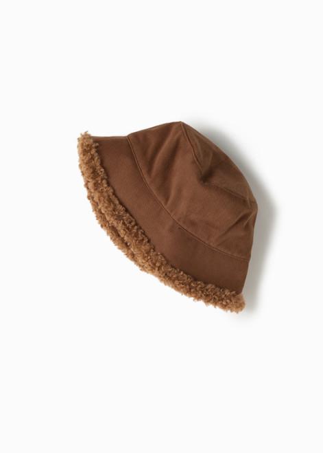 Fuzzy Reversible Bucket Hat - Camel