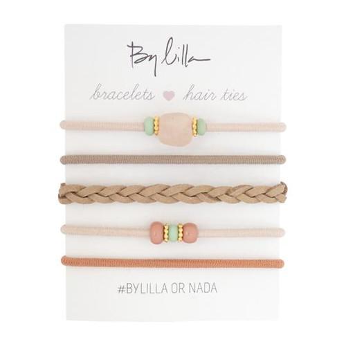 Mini Stacks Hair Elastics/Bracelets, Quartz