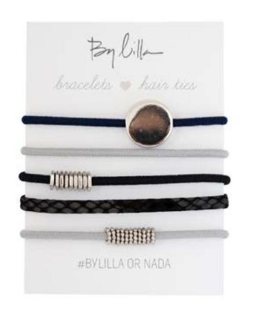 Mini Stacks Hair Elastics/Bracelets, Oasis