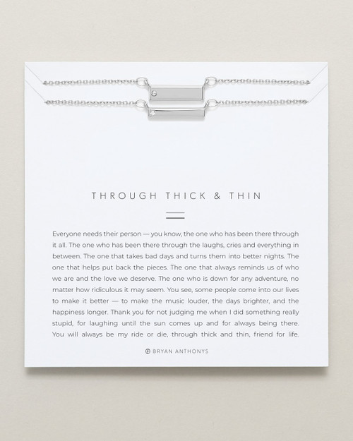 Through Thick & Thin Necklace Set, Silver
