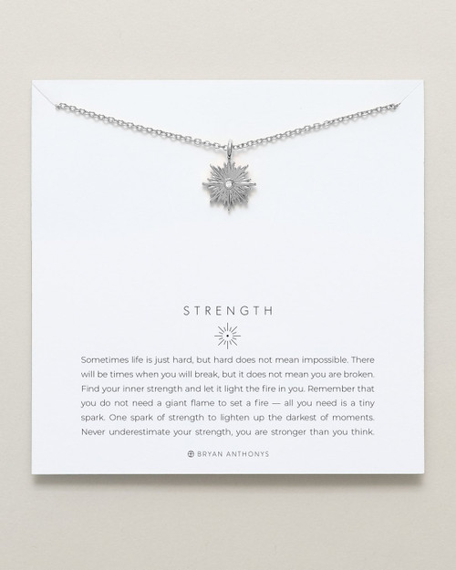Strength Necklace, Silver