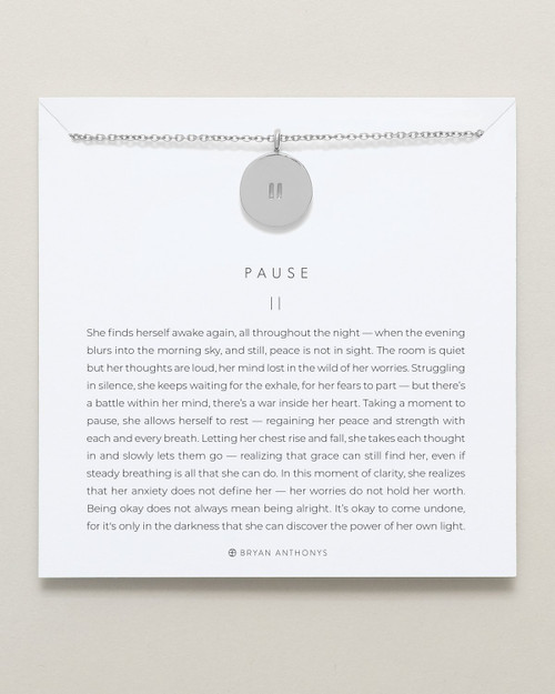 Pause Necklace, Silver