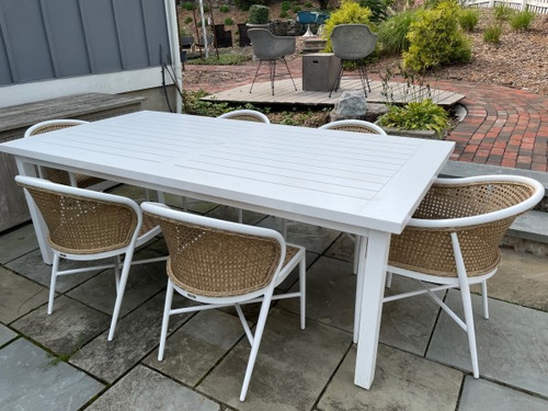 Summer Classics Sample Set (60% OFF) - Club Rectangular Dining Table with Havana Dining Chairs