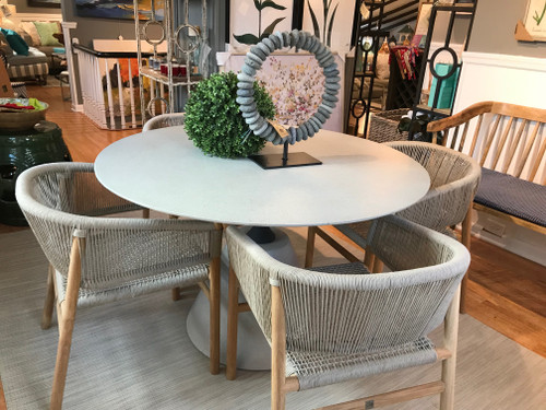 """CO9 Design Sample Set  (50% OFF) -  Bayridge 47"""" Round Dining Table with Ava Dining Arm Chairs"""