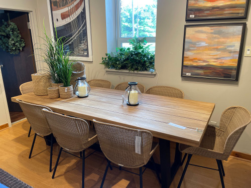 """CO9 Design Sample Set  (30% OFF) -  Brewer 94"""" Dining Table with Brewer Dining Arm Chairs"""