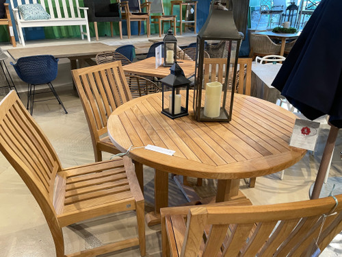 """CO9 Design Sample Set  (30% OFF) -  Essential 48"""" Round Dining Table with Newport Dining Chairs"""