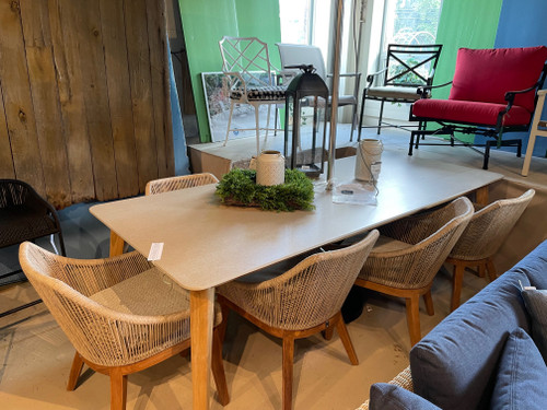 CO9 Design Sample Set (30% OFF) - Essential Dining Table with Rectangular Ceramic Top & Dalton Dining Chairs