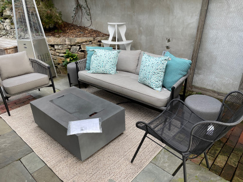 30% OFF CO9 Design Sample Set  -  Greenport Sofa & Club Chair with Brewer Lounge Chair and Round End Table/Poufs, Graphite
