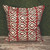 """RED SAPO TOSS PILLOW 22"""" SQUARE"""