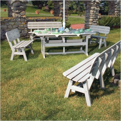 Super Seaside Casual Portsmouth Large Bench Dining Set Squirreltailoven Fun Painted Chair Ideas Images Squirreltailovenorg