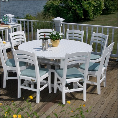 Fine Seaside Casual Salem 60 Round Dining Table Envirowood Download Free Architecture Designs Rallybritishbridgeorg