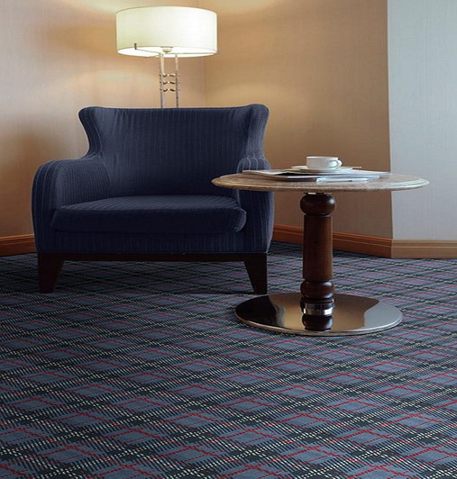 Shaw Philadelphia Traditional Prints Scottish Plaid II 54707 Commercial Carpet Room Scene
