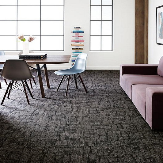 Shaw Philadelphia Crackled Commercial Carpet Tile Room Scene