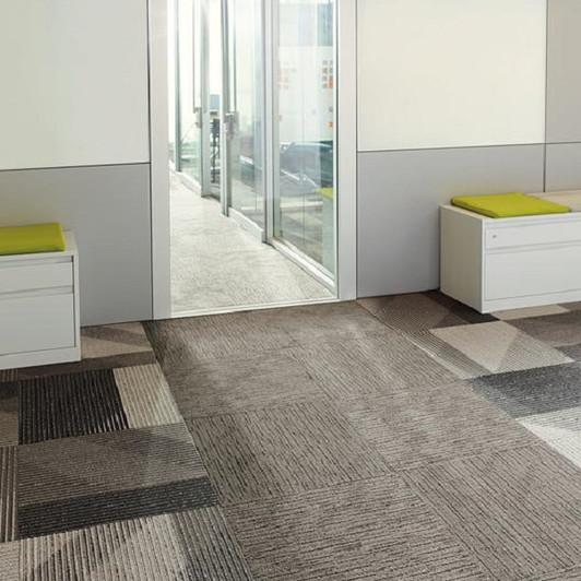 Shaw Philadelphia Shape of Color Line by Line 54899 Commercial Carpet Tile Room scene
