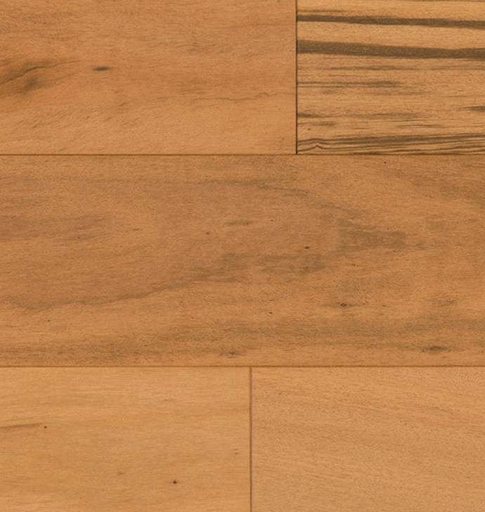 "Indus Parquet Tigerwood Wirebrush Natural 5 1/2"" TW345WB1000 Solid Hardwood Plank"