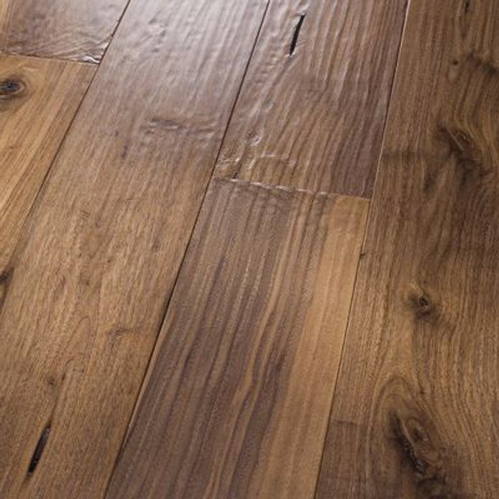 "HomerWood Amish Hand-Scraped Black Walnut 5/8"" Engineered Hardwood"