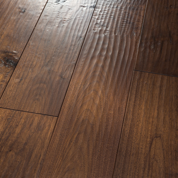 "HomerWood Amish Hand-Scraped Black Walnut 3/4"" Solid Hardwood"