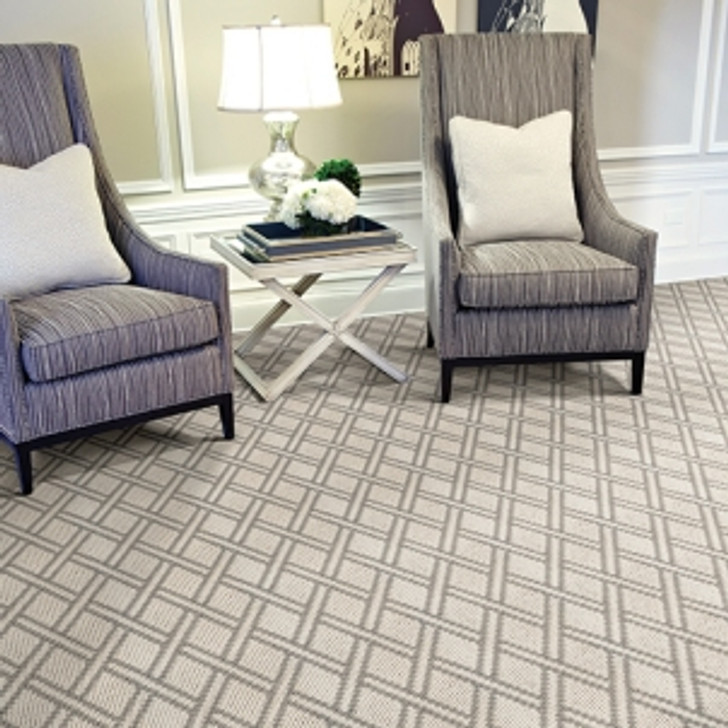 Atelier Icon Pioneer Latticework Antique Silver Stanton Residential Carpet