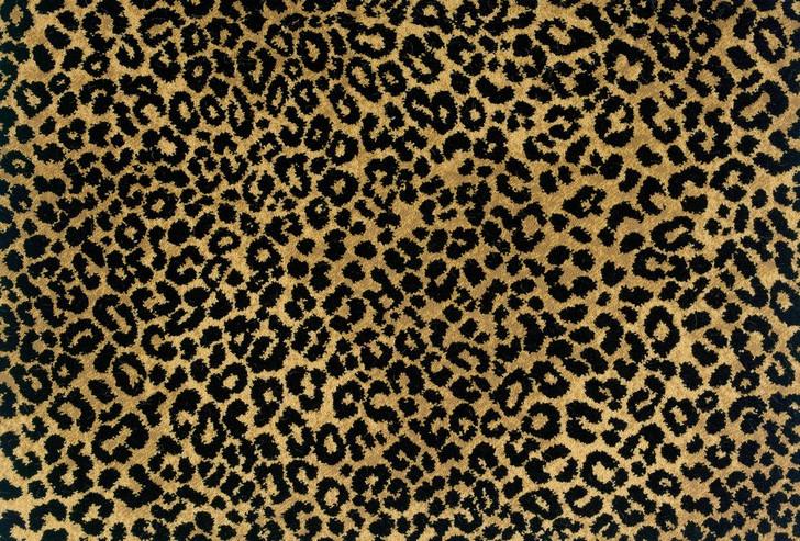 Stanton Lake Jaguar Gold Black Woven Carpet