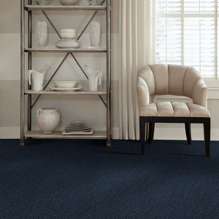 Shaw Secret Escape II 15 E0049 Blue Macaw Clear Touch Carpet