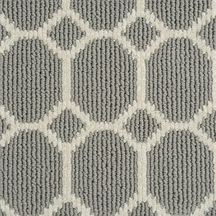 Atelier Icon Legend Geo Grey Pearls Tufted Stainmaster Carpet