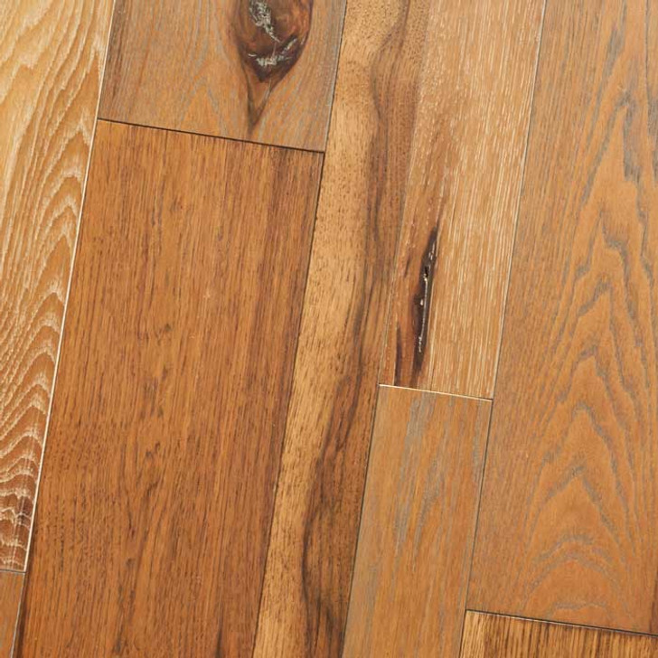 "HomerWood Wire Brushed & Mixed Width Hickory 3/4"" Solid Hardwood"