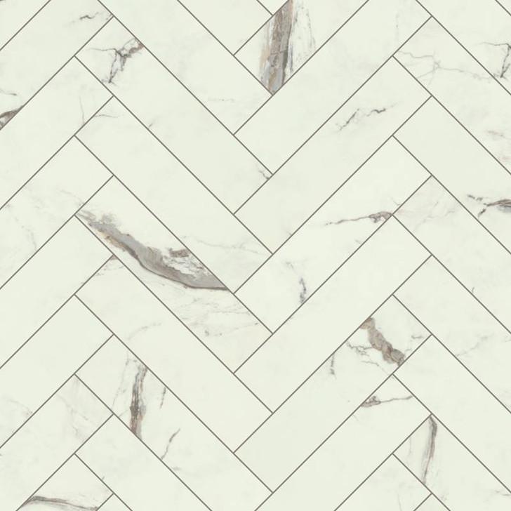 """Karndean Select Stone Marble Herringbone 6""""x24"""" Luxury Vinyl Tile"""