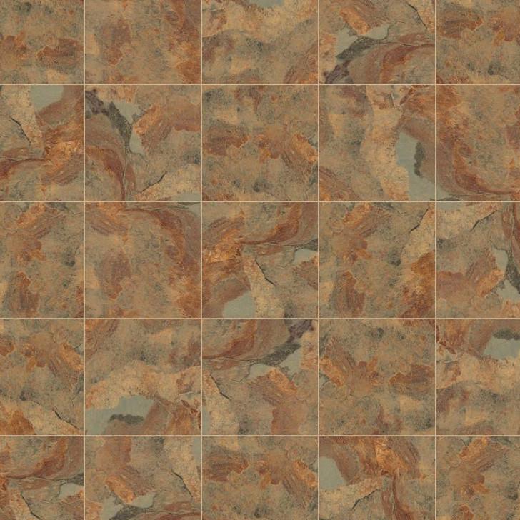 "In Stock Karndean Knight Tile Copper Slate 12'x12"" Vinyl Tile"