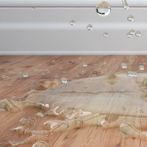 water splashing on flooring