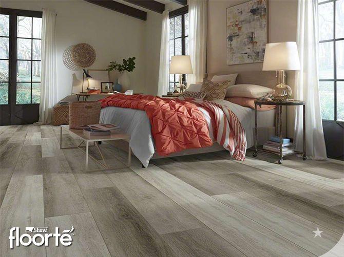 Shaw floorte in bedroom.