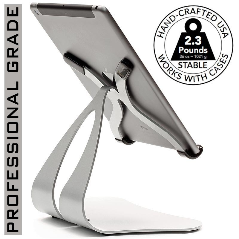 iPad Stand Stabile 2.0 - Best for commercial, kitchen, desk, retail or counter top use is needed with a sturdy modern look.