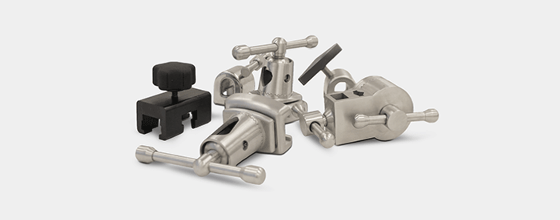 ​Different surgical table clamps and their uses: