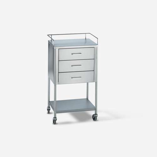 UT - 2800 - 20 x 16 x 34 Stainless Steel Utility Table/Prep Stand w/ rails & 3 drawers