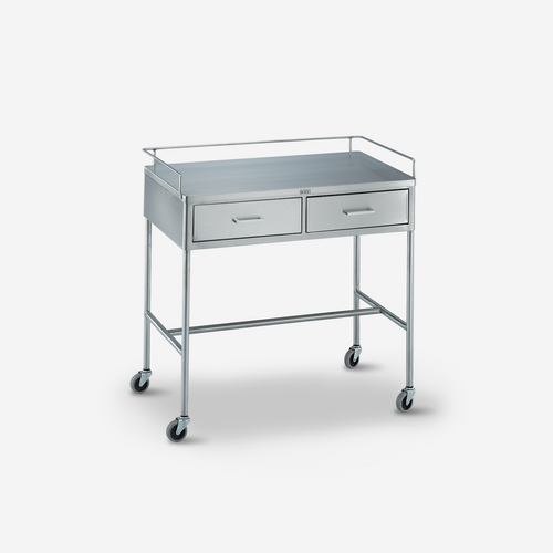 UT - 3000 - 36 x 20 x 34 Stainless Steel Utility Table/Prep Stand w/ rails & 2 drawers