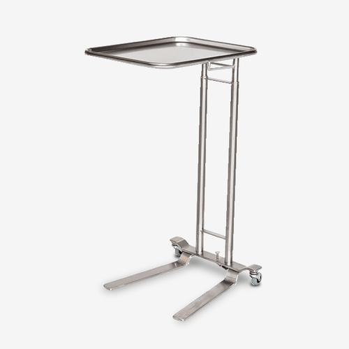 MS-5000 - Jumbo Stainless Steel Double Post Mayo Stand - Foot Operated