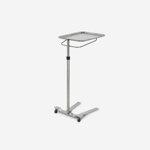 MS-5800 - Stainless Steel Single Post Mayo Stand - Foot Operated