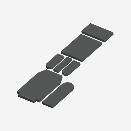 BCS- 4220 - Bariatric Comfort Series Midmark/Chick CLT 10500 Cushion Set