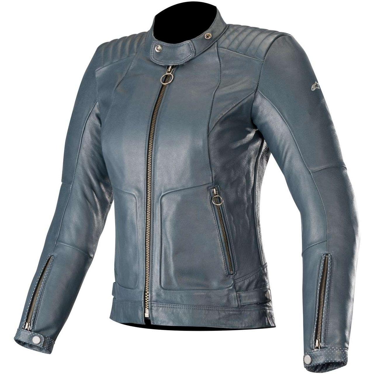 Alpinestars Stella Gal Ladies Leather Jacket - Mood Indigo
