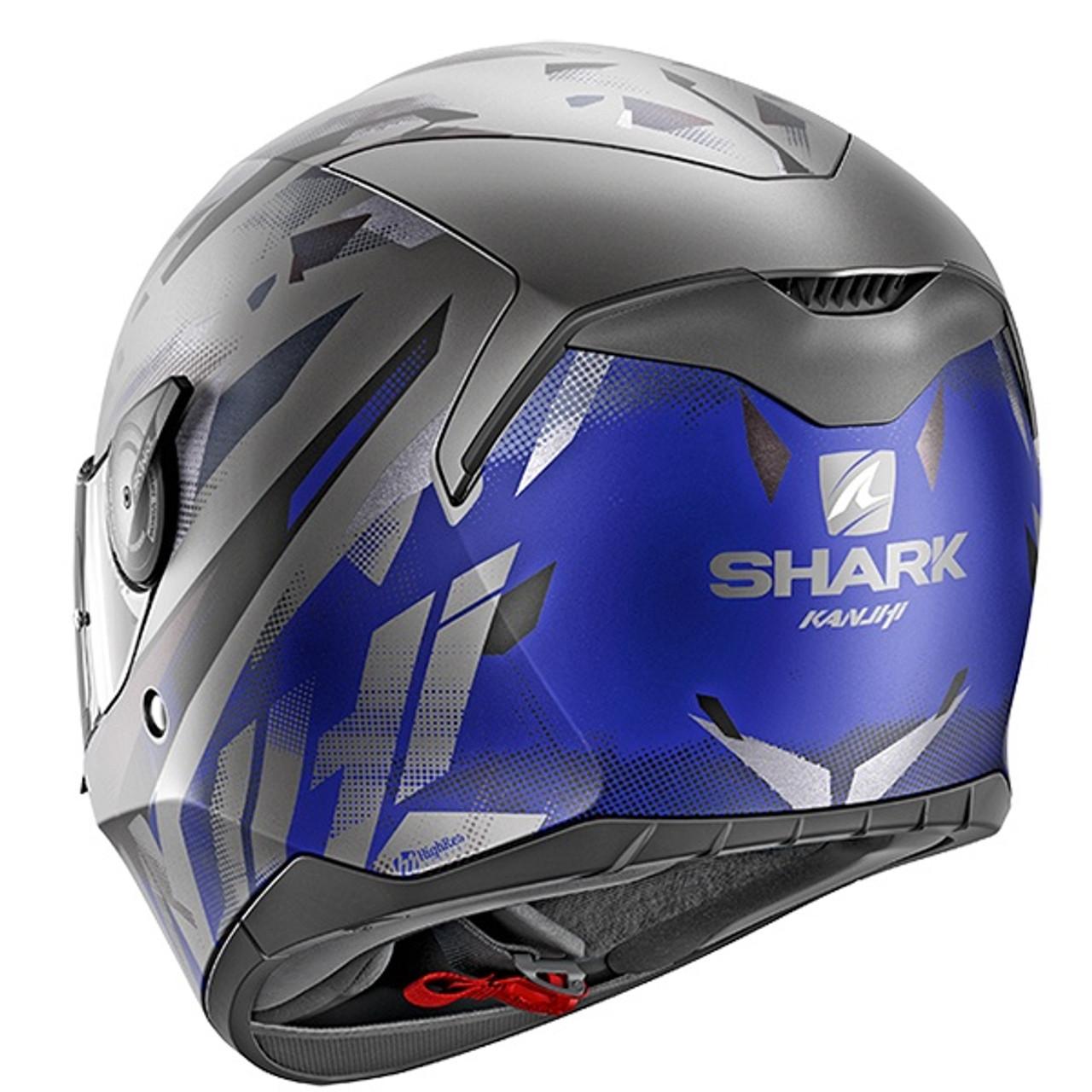 Shark D-Skwal Kanhji Full Face Helmet Mat ABK - Anthracite / Blue / Black