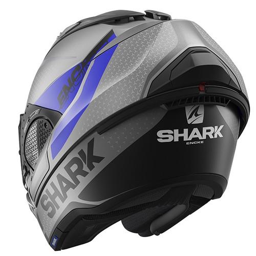 Shark Evo GT Flip Front Helmet Encke ABK - Mat Anthracite / Blue / Black
