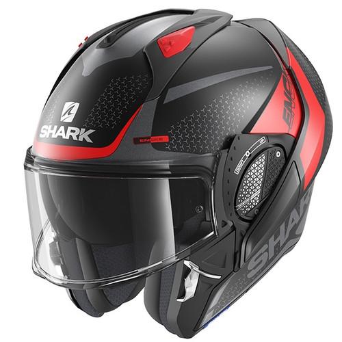 Shark Evo GT Flip Front Helmet Encke KRA  - Mat Black / Red / Anthracite