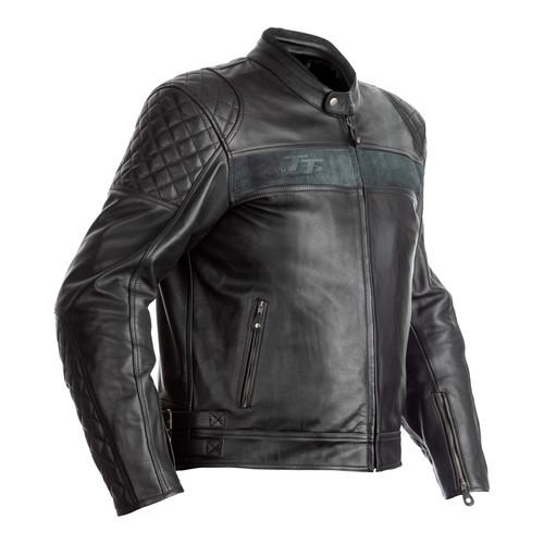 RST IOM TT Brandish CE Mens Leather Jacket - Black