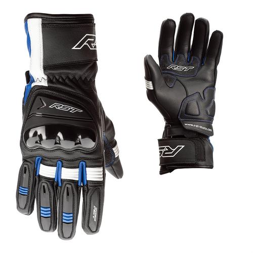 RST Pilot CE Mens Leather Gloves - Black / Blue / White