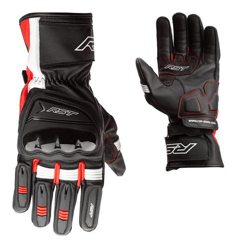 RST Pilot CE Mens Leather Gloves - Black / Red / White