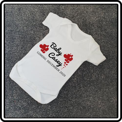 New Baby Announcement Babygrow