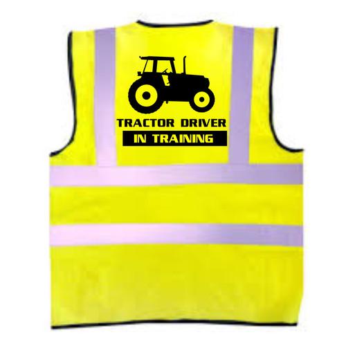 Tractor Driver In Training Kids Hi-Vis Vest