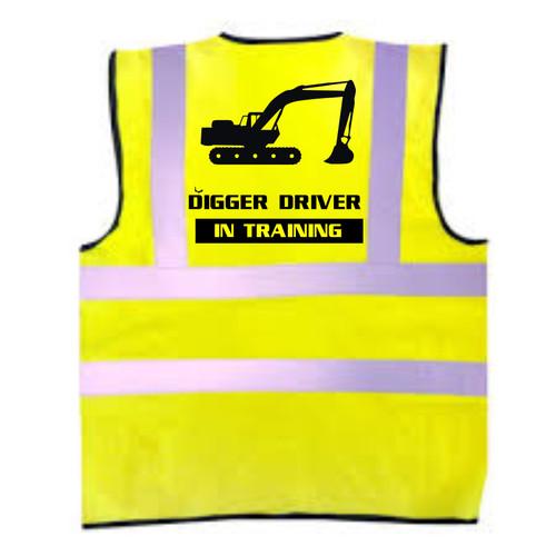 Digger Driver In Training Kids Hi-Vis Vest