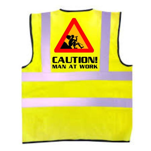 Caution Man At Work Kids Hi-Vis Vest